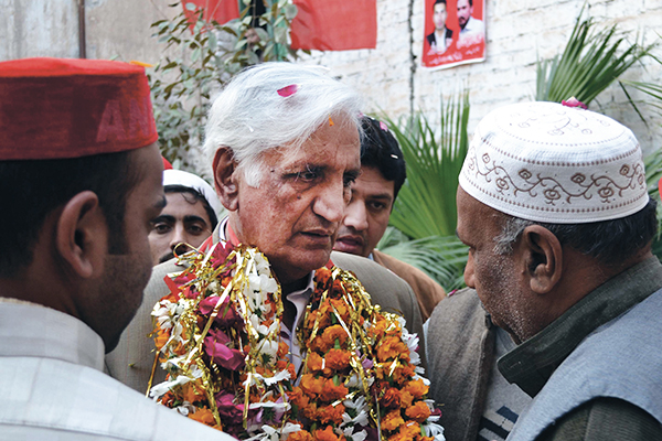 Bashir Bilour, hours before he was assassinated. AFP