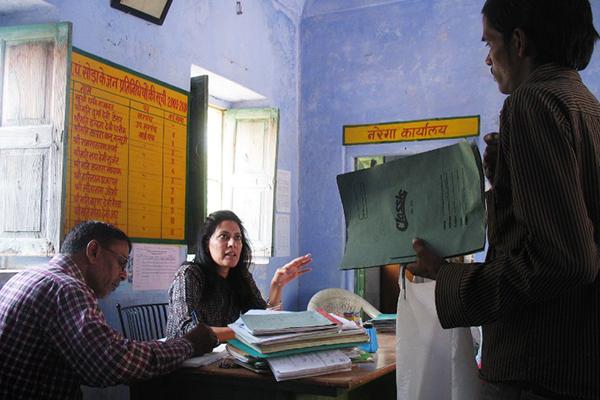 Rajawat in Soda, Nov. 20. Penny MacRae—AFP