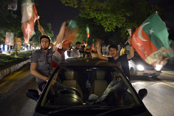 PTI supporters in Lahore, May 11. Aamir Qureshi—AFP