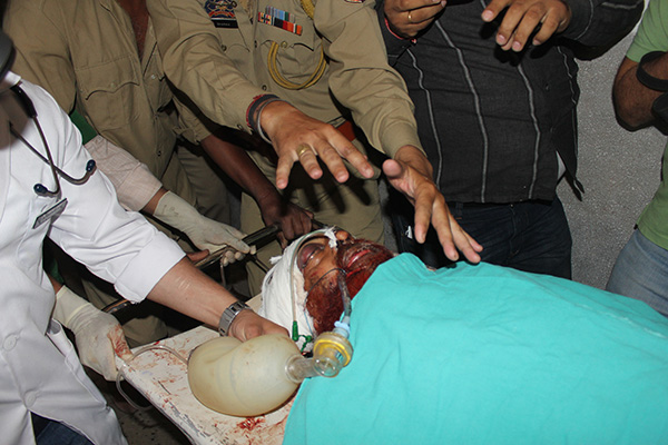 Sanaullah is transferred to the ICU at a hospital in Jammu. AFP