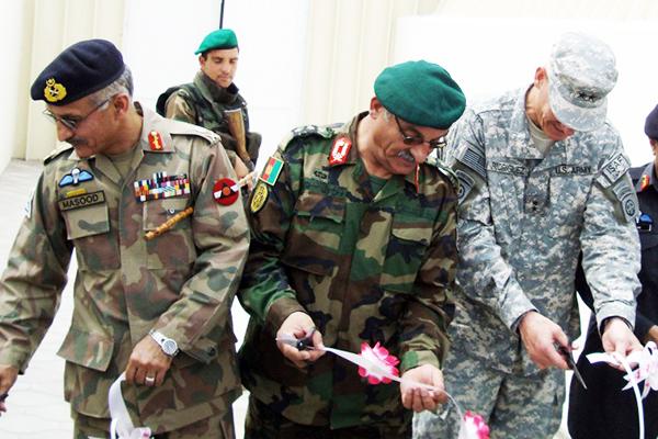 Gen. Karimi (center), March 2008. Sardar Ahmed—AFP