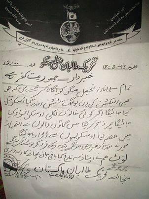 Hangu Taliban Letter