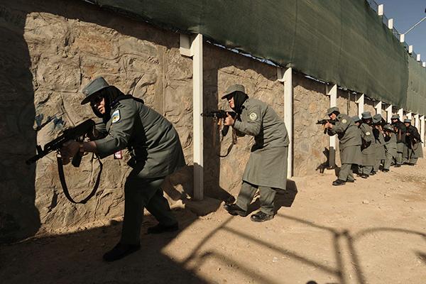 Training police in Herat, Dec. 8, 2011. Aref Karimi—AFP