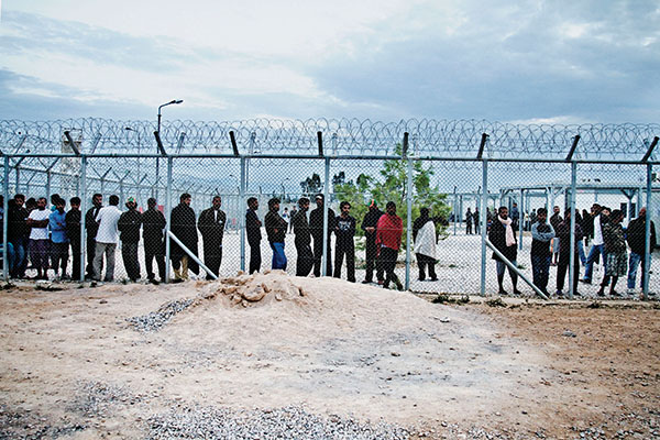 Detention center in Amygdaleza, just outside of Athens. Nikos Pilos.