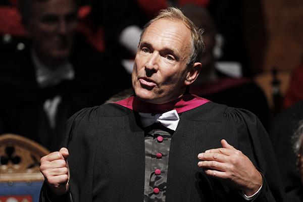 Internet inventor Berners-Lee. Danny Lawson—AFP