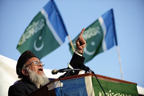 Jamaat-e-Islami chief Hasan in Islamabad, Dec. 5, 2010. Farooq Naeem—AFP