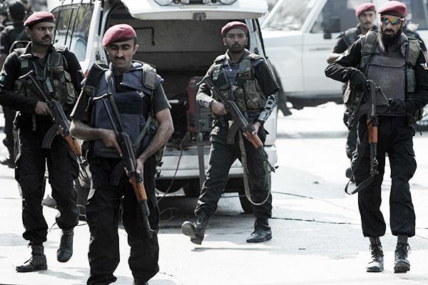 Security forces in Karachi, Nov. 14. Rizwan Tabassum—AFP