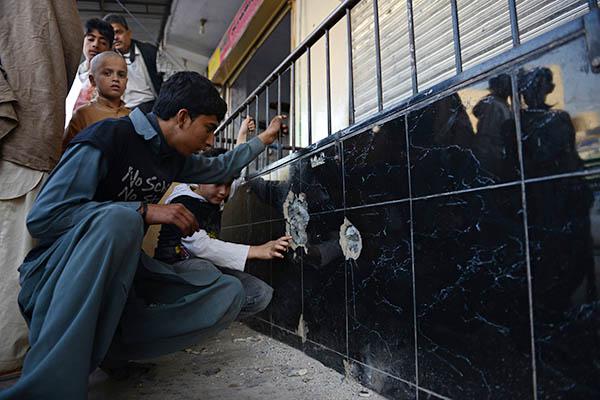 The site of Nasiruddin Haqqani's killing in Islamabad. Farooq Naeem—AFP