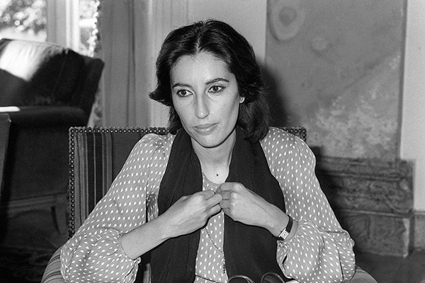 Bhutto at Cannes, Nov. 7, 1985. AFP