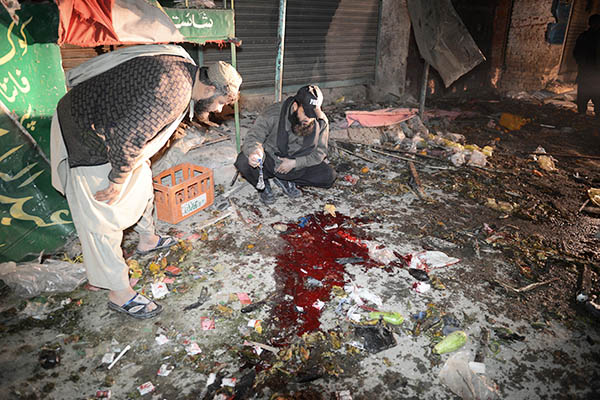 The site of bombing in Balochistan, December 2013. Banaras Khan—AFP