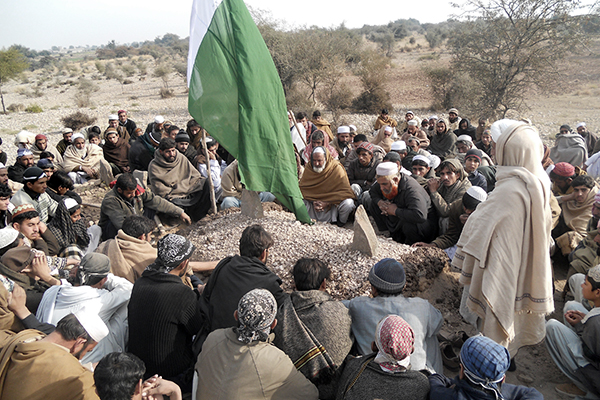 The funeral in Kohat of a soldier killed in Sunday's Bannu attack. Basit Shah—AFP