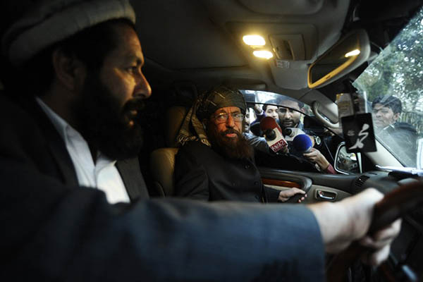 Maulana Sami-ul-Haq, the leader of the Taliban committee. Farooq Naeem—AFP