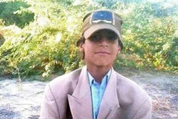 Chakar Baloch was found dead three days after he was abducted from near his home. HO—AFP