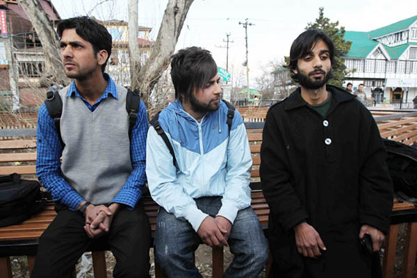 Three of the Kashmiri students who were suspended for supporting Pakistan. AFP