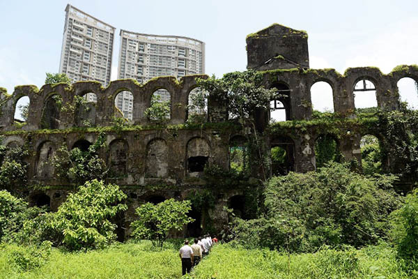 The abandoned mill compound where the photographer was gang-raped. Punit Paranjpe—AFP