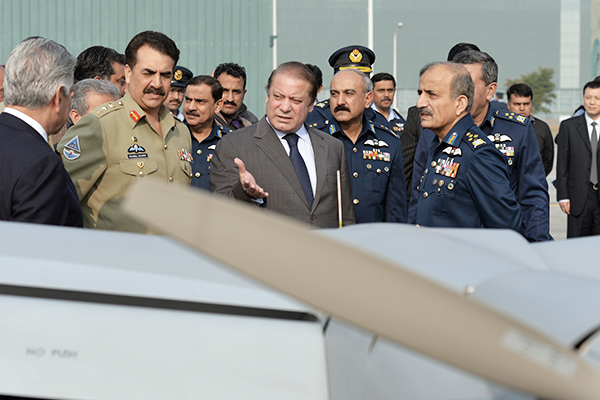 Sharif and Sharif on Dec. 18, 2013, at Kamra. Aamir Qureshi—AFP