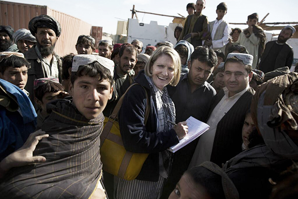Journalist Kathy Ganon, who was injured during a shooting in Afghanistan's Khost province. Twitter
