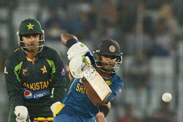 The final match of the Asia Cup tournament in Dhaka between Sri Lanka and Pakistan, March 2014. Munir uz Zaman—AFP
