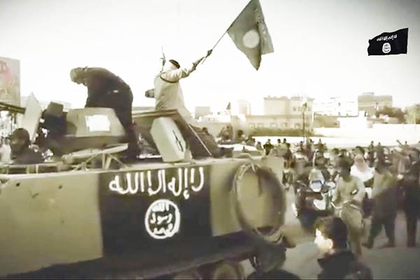 A still from an ISIL propaganda video posted on YouTube. AFP