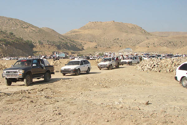 Residents of North Waziristan leave the region during a suspension in the curfew. AFP