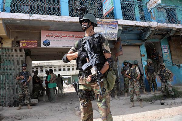 Troops patrol Miranshah. Aamir Qureshi—AFP