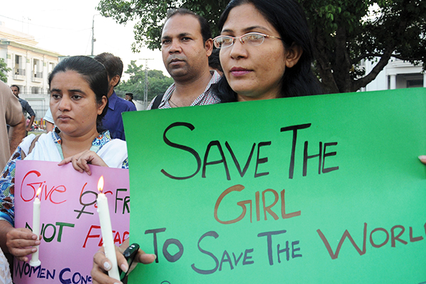 After the rape of a 5-year-old girl, a protest in Lahore, Sept. 13, 2013. Arif Ali—AFP
