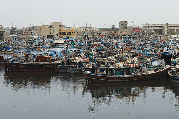 Fishing boats near the Navy dockyard, Sept. 9. Asif Hassan—AFP