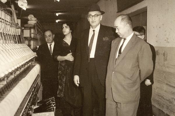 Kulsum Saifullah Khan with her husband, Saifullah, in Japan, 1962.