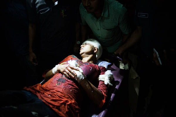 Deceased blogger Roy's wife Rafida Ahmed was also injured in the attack. Rajib Dhar—AFP