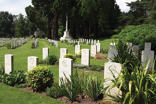 Brookwood, where many Indian soldiers are buried. Courtesy of the author.
