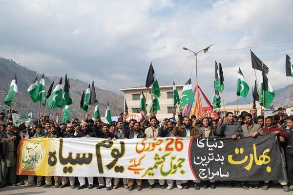 An anti-India rally in Muzaffarabad, Jan. 26, 2015. Sajjad Qayyum—AFP
