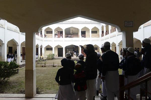 Schoolchildren at the Ad-Dawah school run by the Jamaat-ud-Dawah in Muridke. Arif Ali—AFP