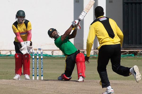 Zimbabwe players train at Harare Sports Club ahead of their tour to Pakistan. Jekesai Njikizana—AFP