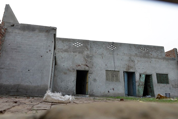 The house raided by Pakistani forces near Lahore, June 29. Arif Ali—AFP