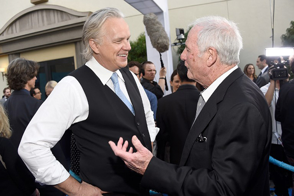 Tim Robbins (left) at the premiere of his new show in Hollywood, June 8.