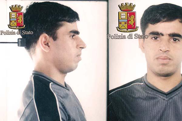 Siyar Khan's mugshot released by Italian police.