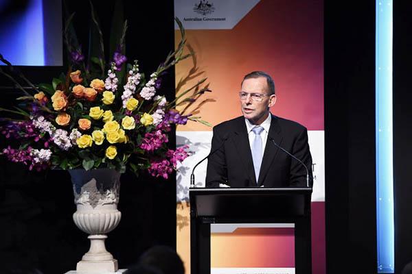 Australian Prime Minister Tony Abbott. Saeed Khan—AFP