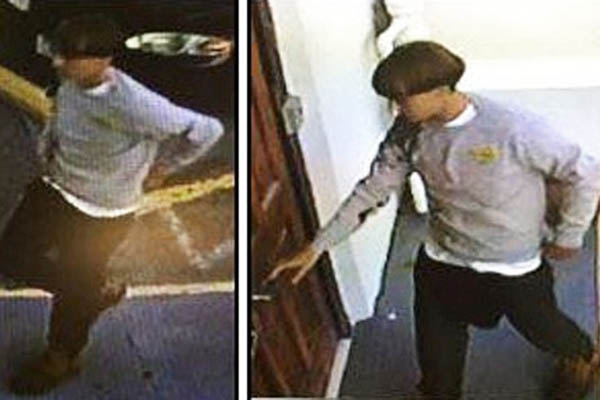 A surveillance photograph of the alleged gunman. Charleston PD—AFP