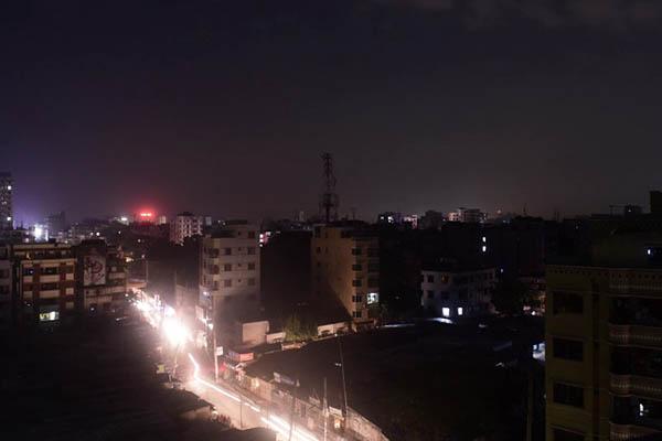 A power blackout in Dhaka. Munir uz Zaman—AFP