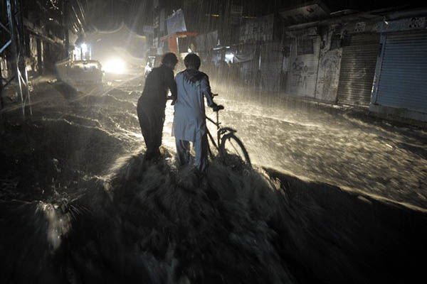 Torrential rainfall in Quetta, 2013. Banaras Khan—AFP