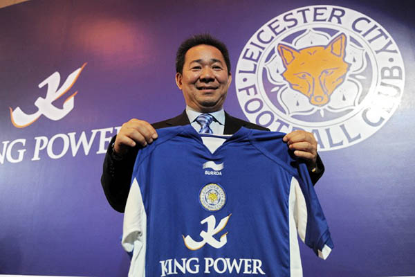 Thailand's King Power Group acquired the Leicester City football club in 2010. Christophe Archambault—AFP