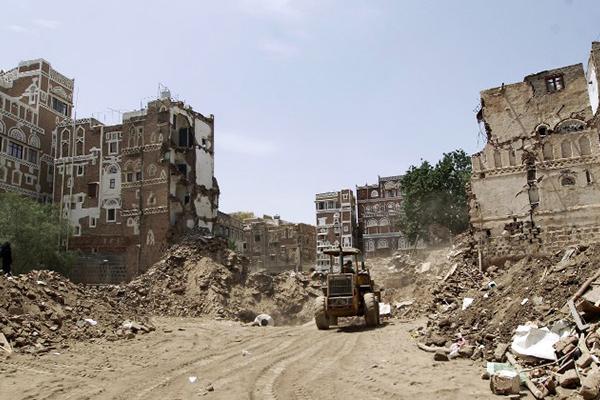Destruction in Sana'a, June 15. Mohammed Huwais—AFP