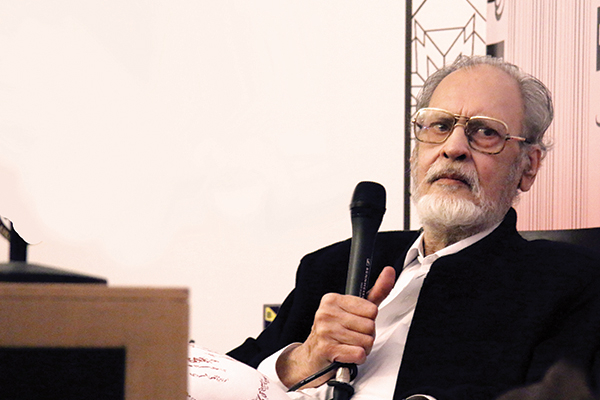 Abdullah Hussein at the Lahore Literary Festival in February.