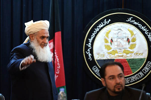 Members of the Afghan High Peace Council in Kabul. Jawad Jalali—AFP
