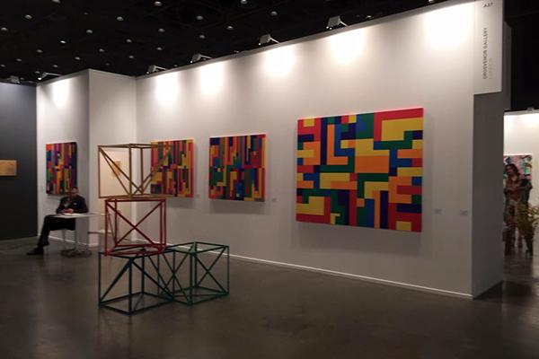 Araeen's work at Art Dubai 2015.