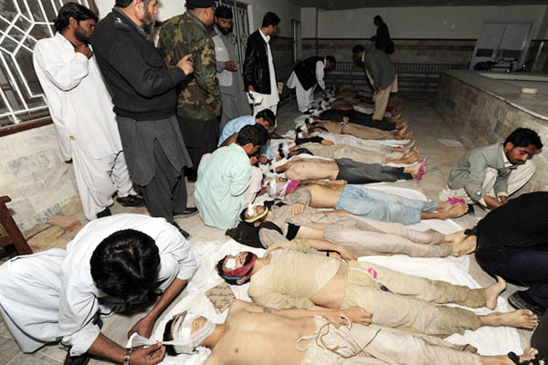 Some 50 Afghans were found dead inside a container on the outskirts of Quetta in 2009. Banaras Khan—AFP
