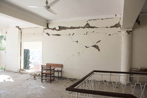 The sorry state of the Government Girls Degree College in Saidu Sharif, Swat after the quake.