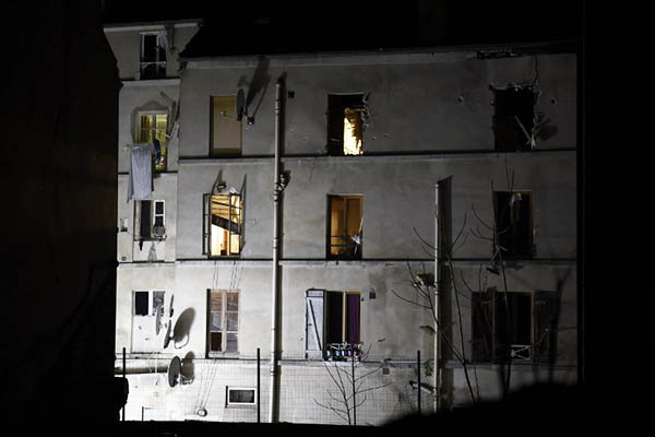 The building that was raided by French police in Saint-Denis. Eric Feferberg—AFP