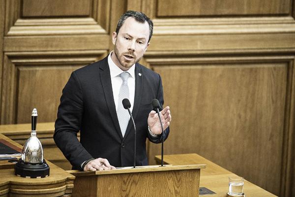 Jakob Ellemann-Jensen from the Danish Liberal Party. Mathias Loevgreen Bojesen—AFP