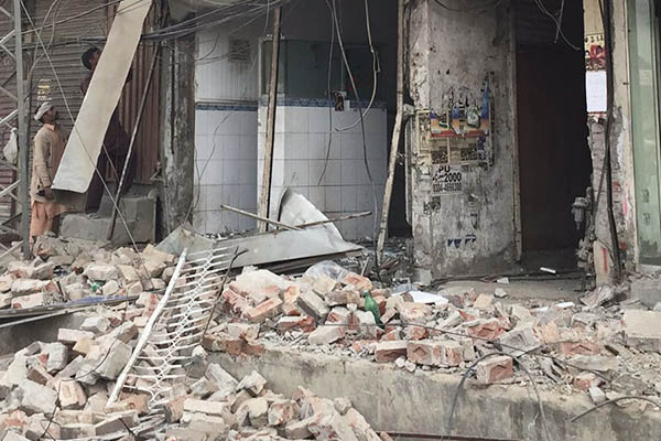 Shops demolished to make way for the Orange Line. Photograph by Benazir Shah